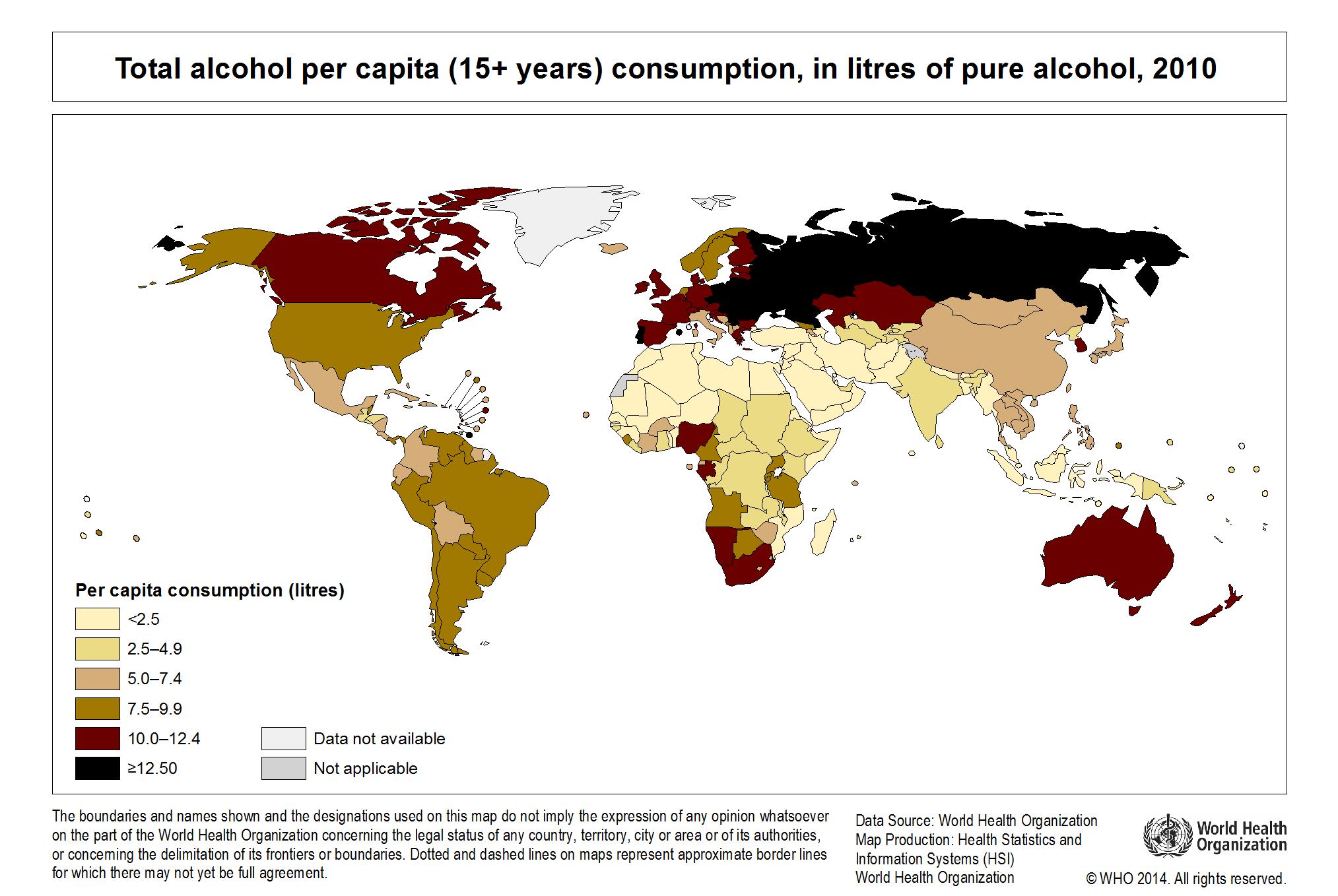 Global consumption per capita 2010