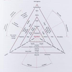 Le triangle original de Vedel (d'après Le Goût du vin d'Emile Peynaud et Jacques Bloin, 2013).