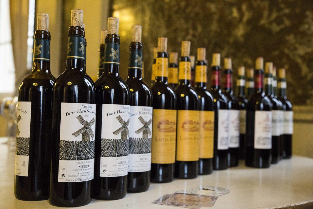 Les vins dégustés à la suite de la conférence de Fabrizio Bucella à l'Académie Royale de Bruxelles