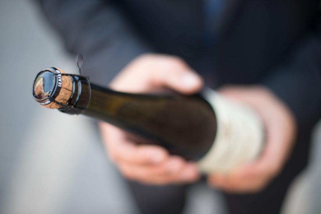 Bouteille champagne bio