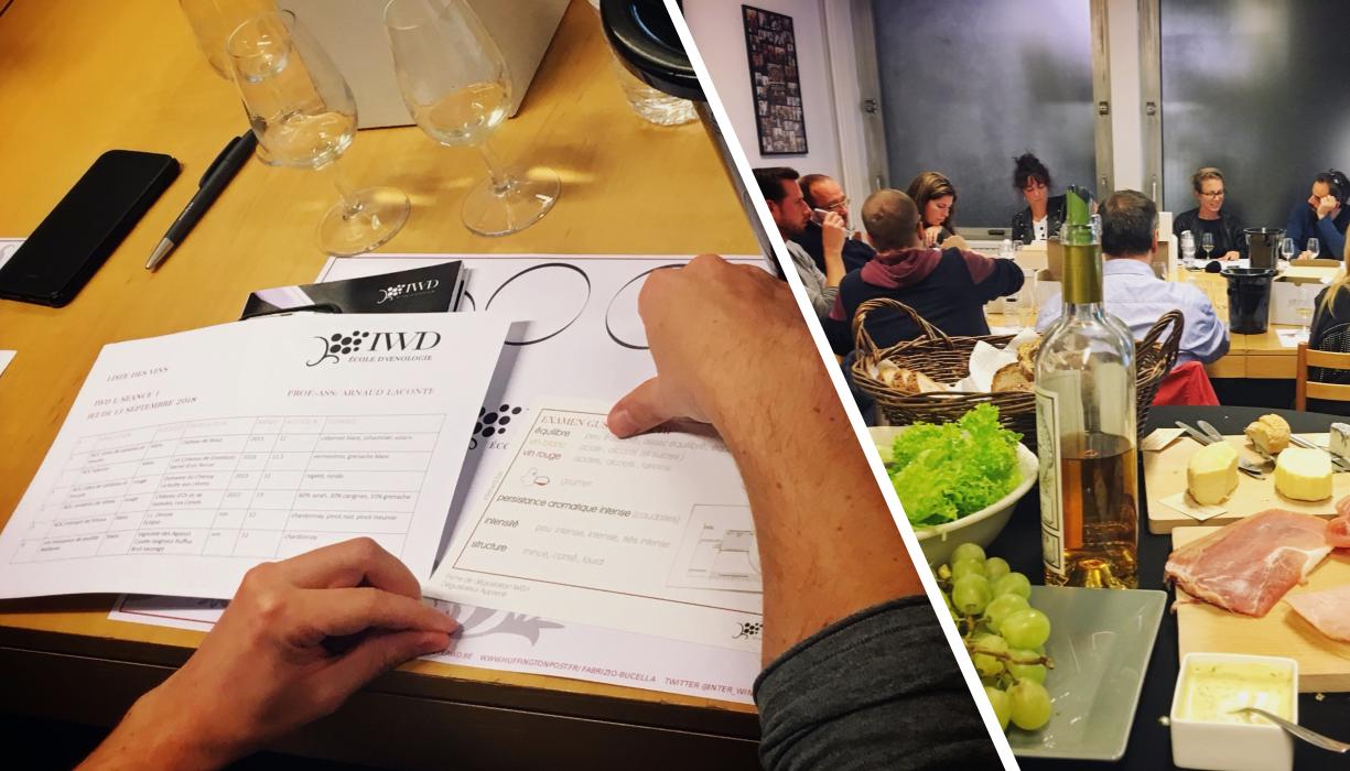 Cours d'œnologie à Inter Wine Dine