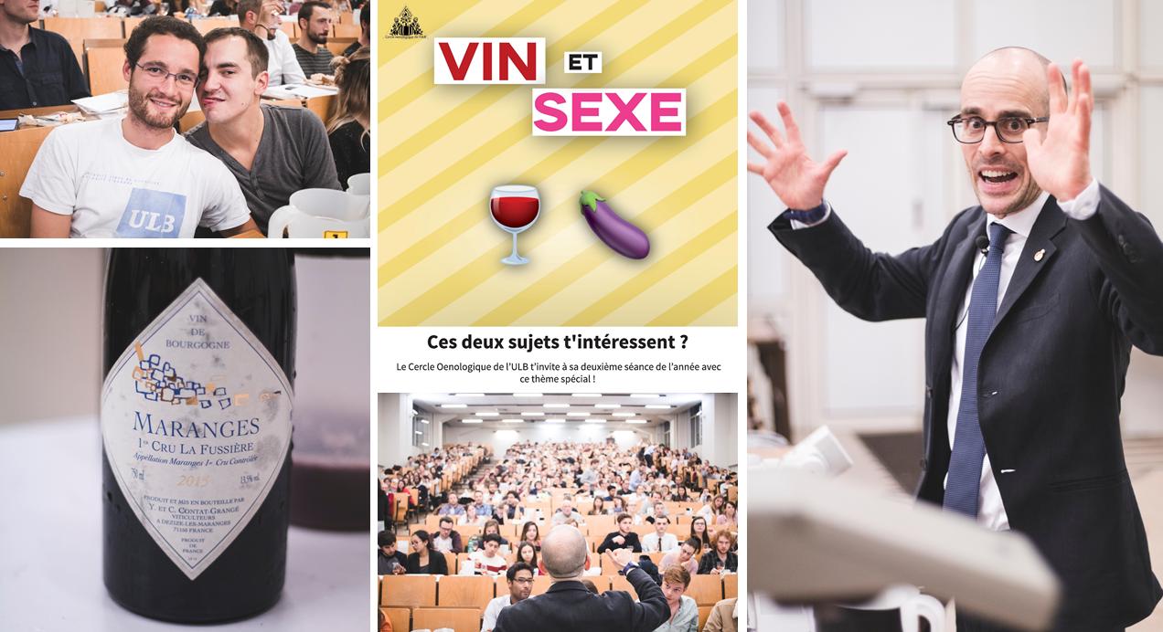 Vin et sexe : la séance la plus chaude du Cercle oenologique de l'ULB