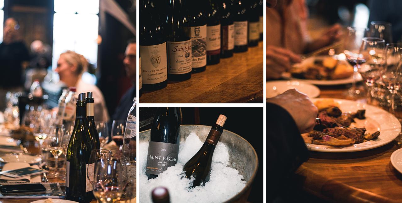 Les professionnels belges à table avec les vins de Saint-Joseph