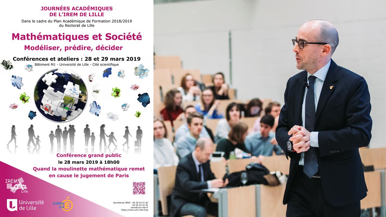 Conférence sur le jugement de Paris à l'honneur lors des Journées académiques de l'IREM de Lille