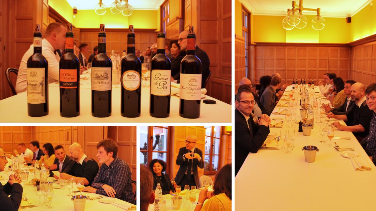 Diner entre les écoles de sommellerie et les vins du Médoc - Inter Wine & Dine