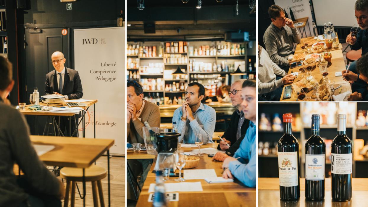Formation professionnelle à Bruxelles avec IWD et l'Ecole du Vin de Bordeaux sur les vins de Bordeaux